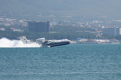 Beriev是200两栖飞机 库存照片