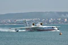 Beriev是200海上飞机 免版税图库摄影