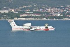 Beriev是200海上飞机 库存图片