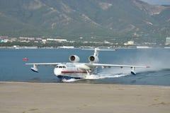 Beriev是200海上飞机 免版税库存图片
