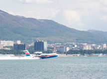 The Beriev Be-200 ES `Altair` type has take-off Stock Photos