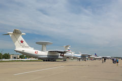 Beriev A-50. KUBINKA, MOSCOW OBLAST, RUSSIA - JUN 19, 2015: International military-technical forum ARMY-2015 at the Kubinka air base. The Beriev A-50 (NATO Stock Images