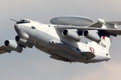 Beriev A-50 RF-50610 показанное на 100 летах годовщины русских военновоздушных сил в Zhukovsky Стоковое Изображение