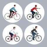 Berijd een fietsontwerp Stock Afbeelding