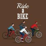 Berijd een fietsontwerp Royalty-vrije Stock Afbeelding