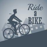 Berijd een fietsontwerp Royalty-vrije Stock Foto