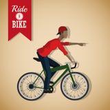 Berijd een fietsontwerp Royalty-vrije Stock Afbeeldingen