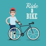 Berijd een fietsontwerp Stock Afbeeldingen
