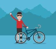 Berijd een fietsontwerp Stock Fotografie