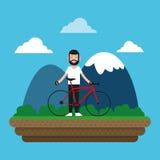 Berijd een fietsontwerp Stock Foto's