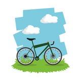 Berijd een fietsontwerp Stock Foto