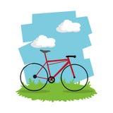 Berijd een fietsontwerp Royalty-vrije Stock Foto's