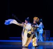 """Berijd een paard bij de galop-Purpere Haarspeld--jiangxi opera""""four dromen van linchuan† Stock Foto's"""