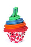 Berijpt cupcake royalty-vrije stock fotografie