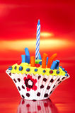 Berijpt cupcakes royalty-vrije stock fotografie