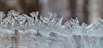 Berijpt de Wintervenster Stock Afbeeldingen
