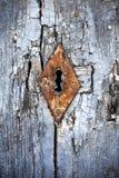 Berijpt Rusty Keyhole Stock Afbeeldingen