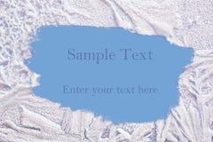 Berijpt textuurframe Stock Fotografie