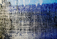 Berijpt venster dat met ijskristallen wordt bevroren Stock Foto's