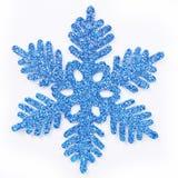 Berijpte blauwe sneeuwvlok royalty-vrije illustratie