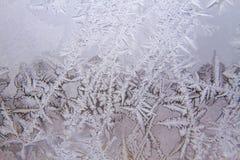 Berijpte glastextuur als achtergrond De winter, koud weerconcept stock foto