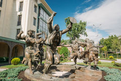 Berikaoba Scupture statua W Tbilisi, Gruzja Zdjęcia Stock