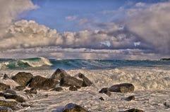 Bering κυματωγή θάλασσας, νησί του ST George, Αλάσκα στοκ φωτογραφίες με δικαίωμα ελεύθερης χρήσης