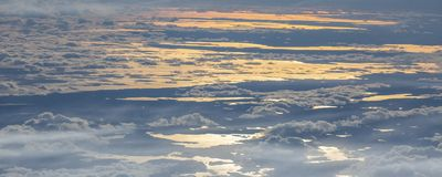 6Take an aerial view of the ice and sunrise over the bering strait.(1) stock image