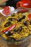 Beringela Biryani - um alimento indiano feito do arroz e da beringela Fotos de Stock Royalty Free