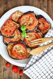 Beringela cozida com tomates Imagens de Stock Royalty Free