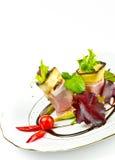 A beringela melhora a azeitona com presunto de Parma Imagens de Stock Royalty Free