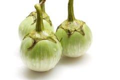 Beringelas verdes frescas Foto de Stock Royalty Free