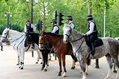 Berittene Polizei in London Stockfoto
