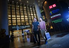 BERJAYA TIMES SQUARE - KUALA LUMPUR. Sprawled over 3,450,000 sq ft, this huge shopping mall is a definite choice for the young and trendy. With over 1,000 retail stock photos