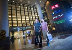 BERJAYA TIMES SQUARE - KUALA LUMPUR. Sprawled over 3,450,000 sq ft, this huge shopping mall is a definite choice for the young and trendy. With over 1,000 retail royalty free stock image