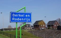 Berkel en Rodenrijs村庄 库存图片