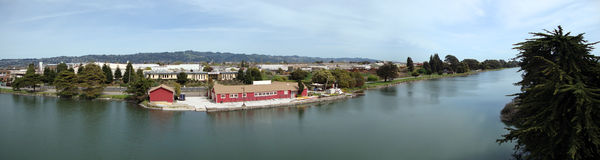Berkeley Aquatic Park Panoramic Stock Photo