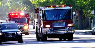 Berkeley Fire Department To The Rescue Royalty Free Stock Images