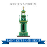 Berkeley Memorial Saint Kitts and Nevis vector flat attraction Stock Photo