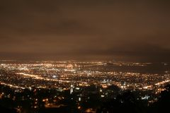 Berkeley at night stock photography