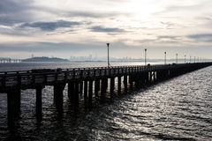 Berkeley Pier and San Francisco Bay Stock Images