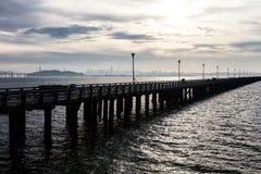 Berkeley Pier and San Francisco Bay Stock Images