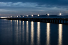 Berkeley Pier y San Francisco Bay imágenes de archivo libres de regalías