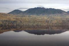 Berkeley Pit. Butte, Montana, Old copper mine filling up with polluted water Royalty Free Stock Image