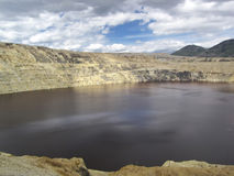 Berkeley Pit. A former copper mine and now one of the most polluted places in the USA, Butte Montana Royalty Free Stock Photography