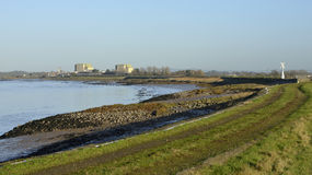 Berkeley Power Station. River Severn & Disused Berkeley Power Station, Gloucestershire Royalty Free Stock Images