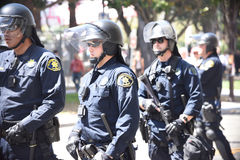 Berkeley Protests Against Fascism, Racism, and Donald Trump Stock Image