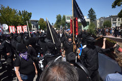 Berkeley Protests Against Fascism, Racism, and Donald Trump Stock Photo