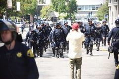 Berkeley Protests Against Fascism, racismo, e Donald Trump fotografia de stock royalty free