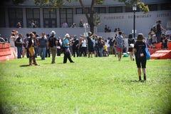 Berkeley Protests Against Fascism, racismo, e Donald Trump foto de stock royalty free